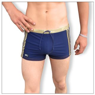 Swimming Trunks - Navy & Gold